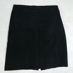 NWT Vintage Express Black Suede Skirt 9/10